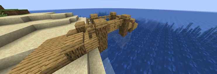 マイクラ アーチ状の橋