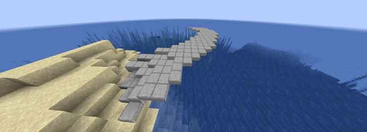 マイクラ 無造作に作った橋