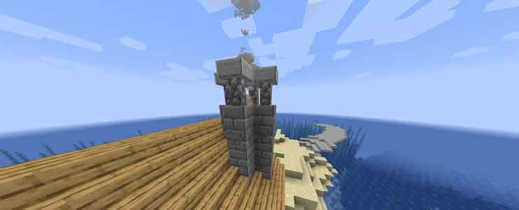 マイクラ 石レンガの煙突