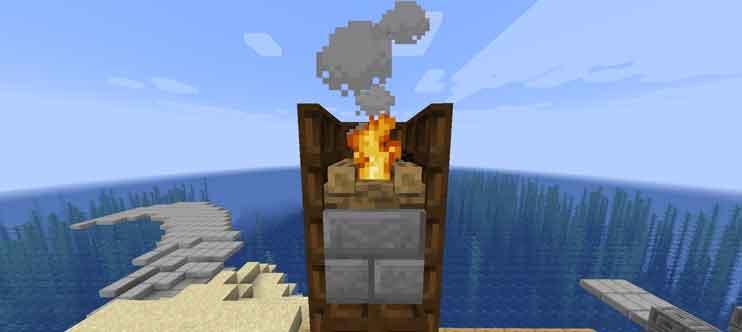 マイクラ 煙がでる煙突の作り方