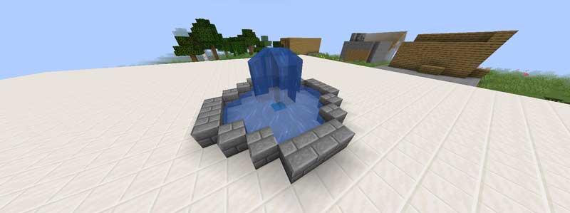 シンプルな噴水