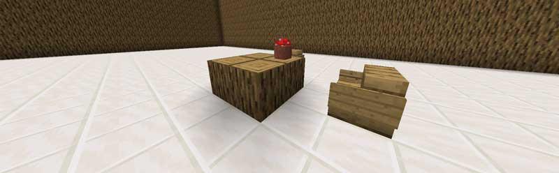 原木テーブル