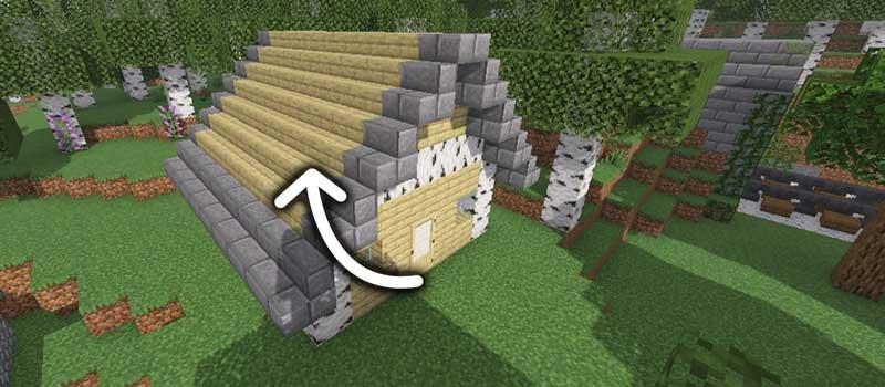 階段を家の屋根に使う